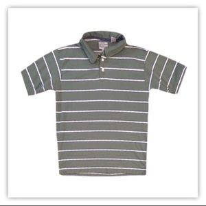 Point Zero Men's Striped Short Sleeve Polo